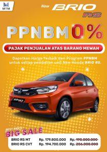 Promo Honda Brio PPnBM 0%