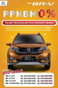 Promo Honda BR-V PPnBM 0%