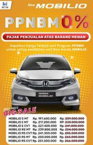 Promo Honda Mobilio PPnBM 0%