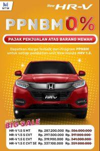 Promo Honda HR-V PPnBM 0%